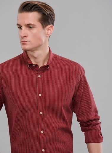 People By Fabrika Düğmeli Yaka Gömlek Kırmızı
